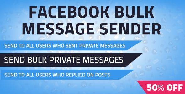 Facebook Bulk Private Message Sender