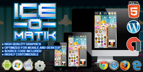Ice O Matik - HTML5 Construct Cooking Game