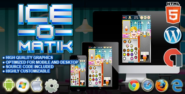 Ice O Matik - HTML5 Construct Cooking Game - CodeCanyon Item for Sale