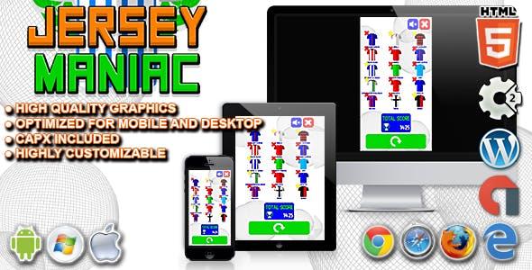 Jersey Maniac - HTML5 Construct 2 Football Quiz Game