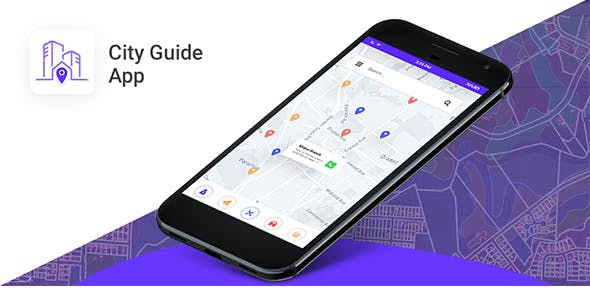 City Guide|Travel Guide|Map Navigation Android App with push notification