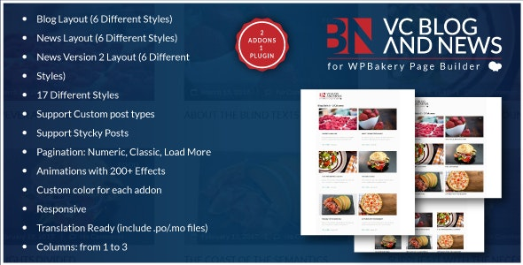 Blog and News Addons for WPBakery Page Builder for WordPress (formerly Visual Composer) - CodeCanyon Item for Sale