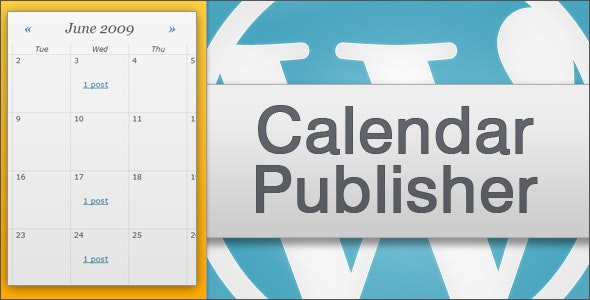Calendar Publisher for Wordpress - CodeCanyon Item for Sale