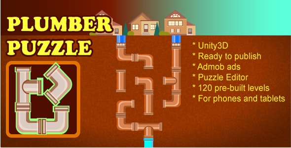 Connect Pipes: Plumber Puzzle by SandBoxGames | CodeCanyon
