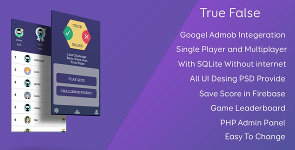 True or False Test Your GK - CodeCanyon Item for Sale