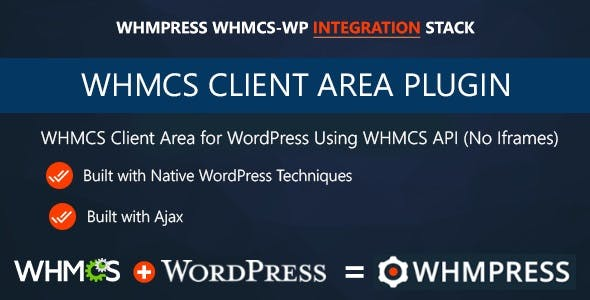 WHMCS Client Area for WordPress by WHMpress        Nulled
