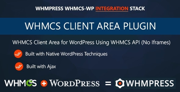 WHMCS Client Area for WordPress by WHMpress - CodeCanyon Item for Sale