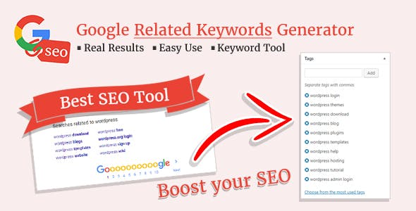 Google Related Keywords Generator - Wordpress SEO Keyword Planner & Tool