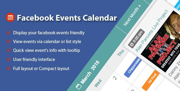 Facebook Events Calendar - CodeCanyon Item for Sale