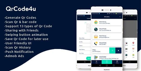 QrCode4u - Qr Code Generator + Scanner + Barcode Reader by