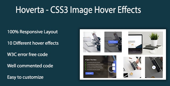 Hoverta - CSS3 Image Hover Effects - CodeCanyon Item for Sale