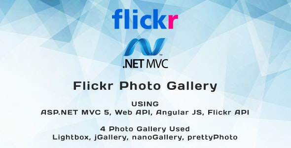 Flickr Photo Gallery Using ASP.NET MVC 5 - CodeCanyon Item for Sale