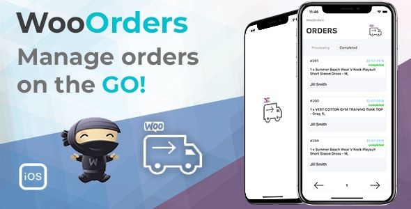 WooOrders - Woocommerce Order Manager For Mobile Written in Swift 4 Xcode IOS - CodeCanyon Item for Sale