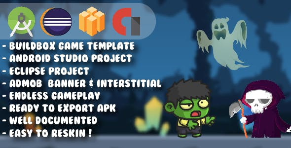 Mini Zombie Boy - Android Studio & Eclipse & Buildbox Game Template