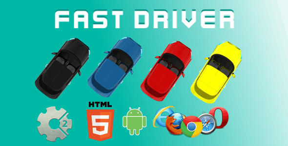 Fast Driver HTML5 Game (CAPX)