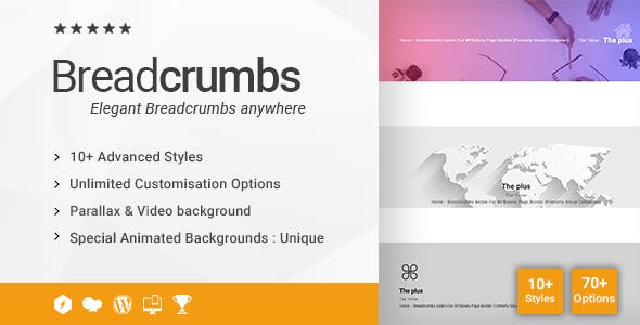 Breadcrumbs Addon for WPBakery Page Builder (formerly Visual Composer)