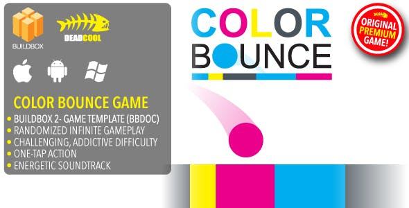 Color Bounce - BuildBox 2 Game Template Document - iOS / Android / BBDOC
