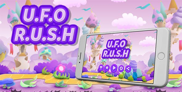 UFO Rush Buildbox Game Template With Admob Interstitial Ads