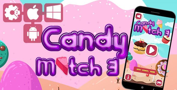 Candy Match 3 - Html5 Game