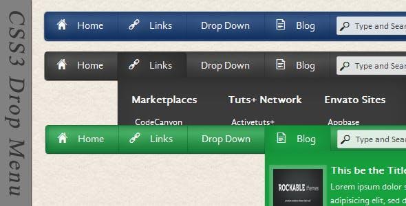 CSS3 Drop Menu