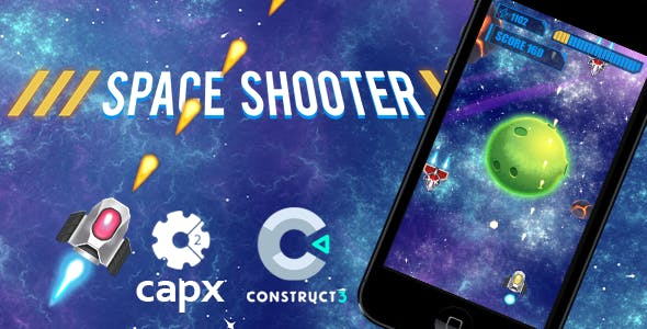 Space Shooter HTML5 Game C2 & C3