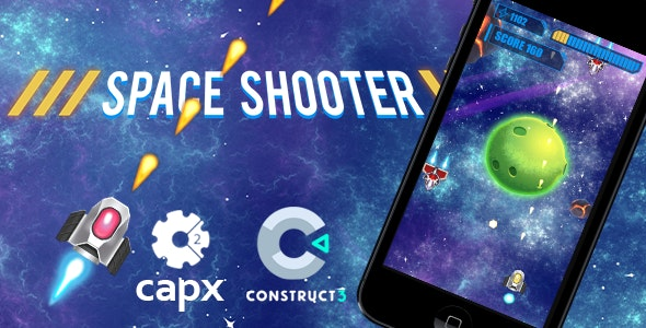Space Shooter HTML5 Game C2 & C3 - CodeCanyon Item for Sale