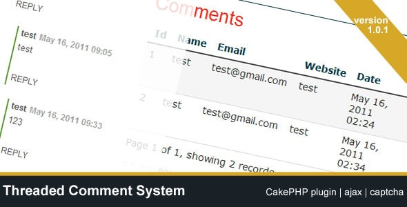 Threaded Comment System (CakePHP plugin) - CodeCanyon Item for Sale