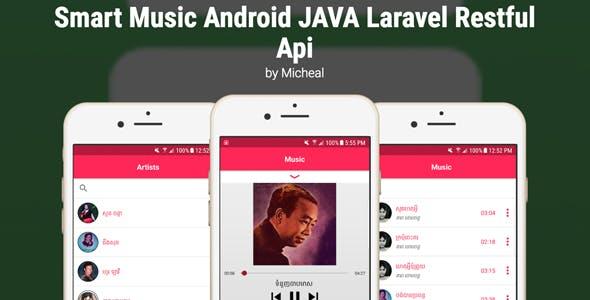 Smart Music Android JAVA Laravel Restful Api