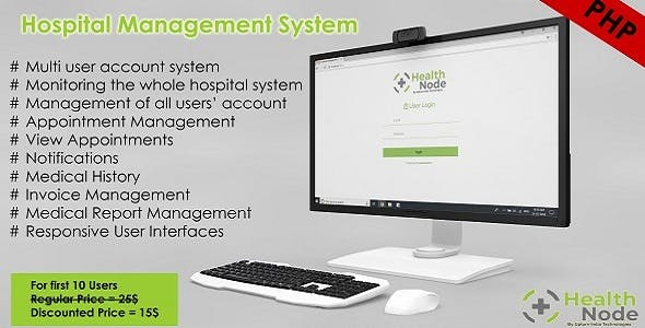 HealthNode Hospital Management System Software