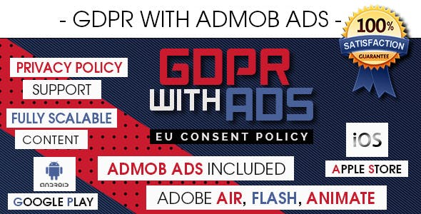 GDPR With AdMob Ads - EU Consent Policy [ Android & iOS ]