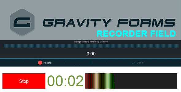 Gravity Forms Recorder Field