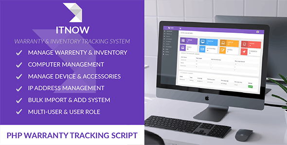 ITNOW-Warranty & Inventory Tracking System - CodeCanyon Item for Sale