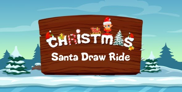 Santa Draw Ride - Road Drawing Unity Game (Admob integrated)