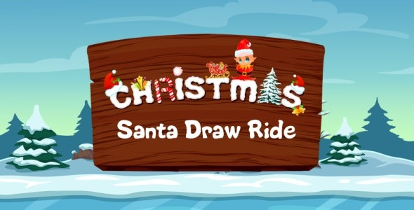 Santa Draw Ride - Road Drawing Unity Game (Admob integrated) - CodeCanyon Item for Sale