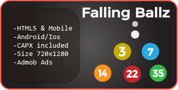 Falling Ballz (HTML5 + Mobile Version) Construct 2