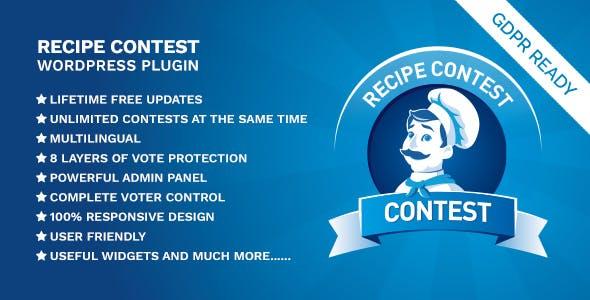 Recipe Contest WordPress Plugin