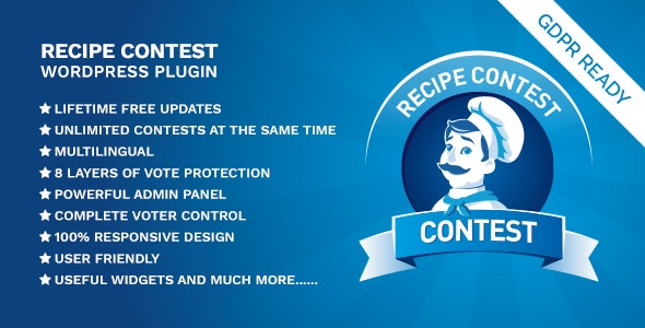 Recipe Contest WordPress Plugin - CodeCanyon Item for Sale