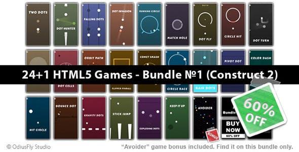 24+1 HTML5 Games - Bundle №1 (Construct 2)