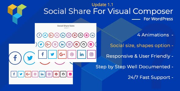 Social Share Addon for WordPress (formerly Visual Composer)