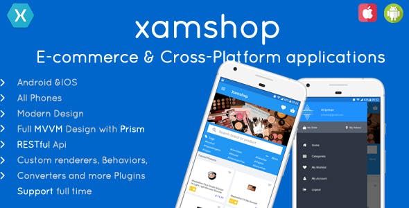 XamShop Ecommerce Application - Cross Platform