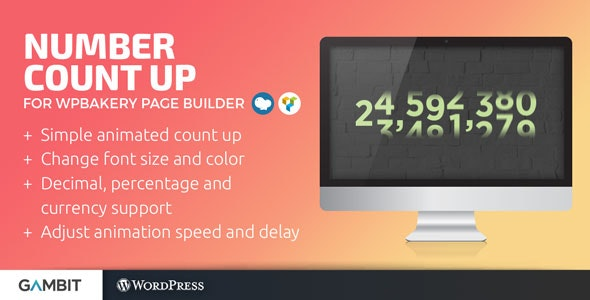 Number Count Up for WPBakery (formerly Visual Composer) - CodeCanyon Item for Sale