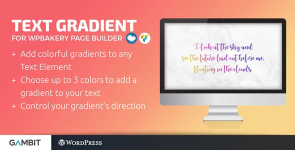 Text Gradient for WPBakery Page Builder (formerly Visual Composer) - CodeCanyon Item for Sale