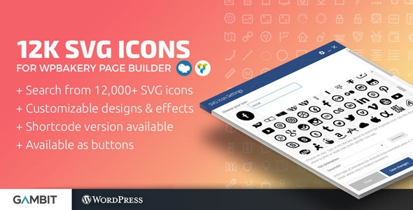 12k SVG Icons for WPBakery Page Builder (formerly Visual Composer) - CodeCanyon Item for Sale