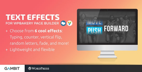 Animated Text Effects for WPBakery Page Builder (formerly Visual Composer) - CodeCanyon Item for Sale