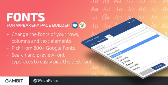 Google Fonts for WPBakery Page Builder (formerly Visual Composer) - CodeCanyon Item for Sale