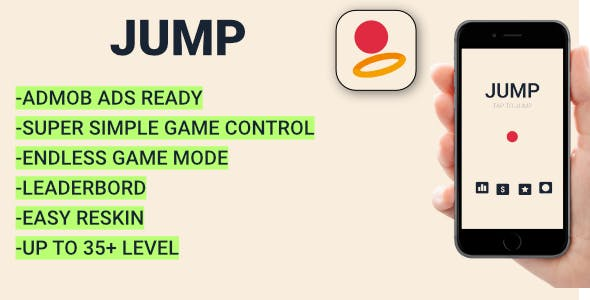 Jump + Admob (Android Studio) Easy Reskin