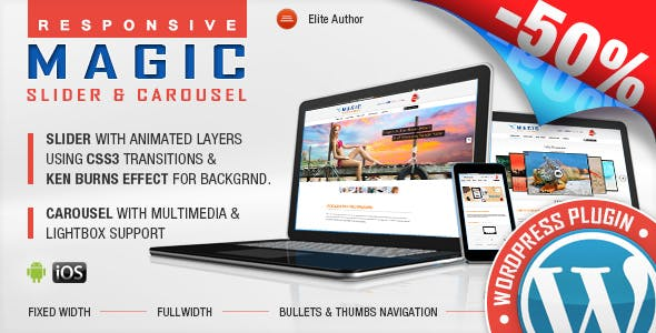 Magic Responsive Slider and Carousel WordPress Plugin