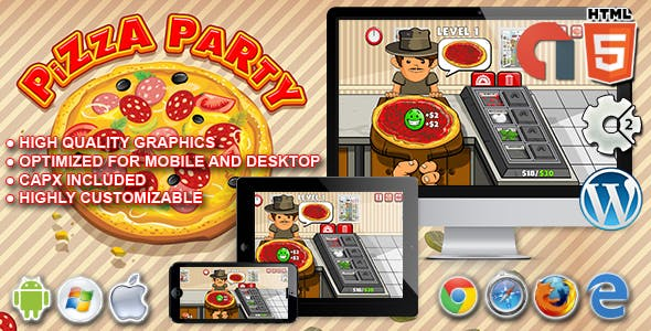 Pizza Party - HTML5 Construct 2 Game