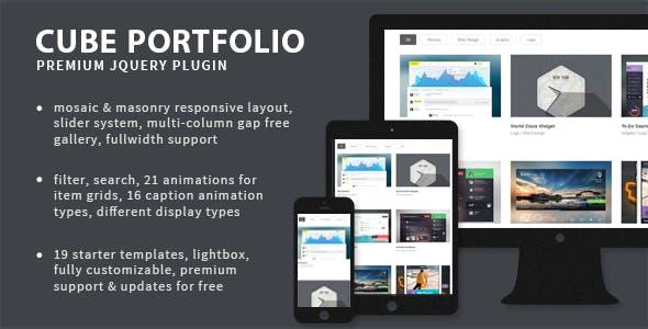 Cube Portfolio - Responsive jQuery Grid Plugin