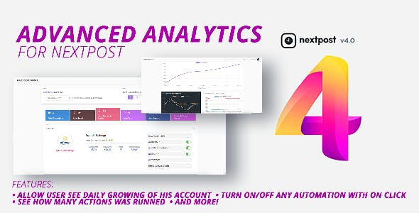 Nextpost Module: Advanced Analytics. Get daily Instagram reports and statistics